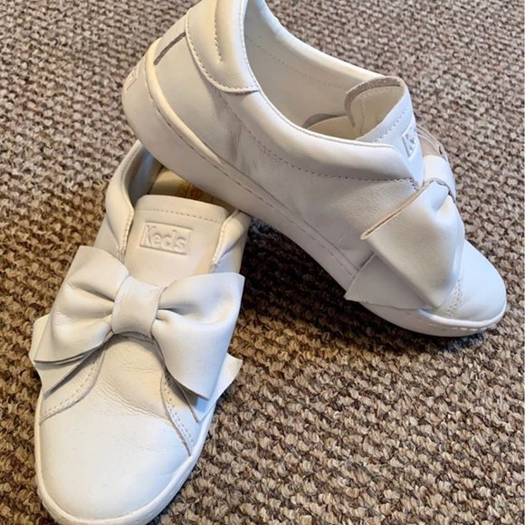 Keds Shoes - White Keds Bow Sneakers Women's 5.5/Girls 3.5